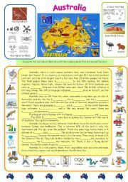 English Worksheets: Australia