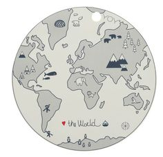 OYOY mini kids placemat the world 39 cm