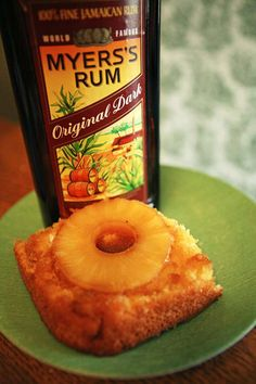 Pineapple Rum Upside-Down Cake --> Use Duncan Hines Pineapple Supreme Mix (add extra cup of Lix) (baking recipes cupcakes pineapple upside) Alcoholic Desserts, Köstliche Desserts, Delicious Desserts, Dessert Recipes, Tropical Desserts, Pineapple Rum, Pineapple Upside Down Cake, Pineapple Recipes, Baking Recipes Cupcakes
