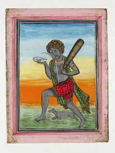 Shiva as Bhairava, 19th c. Lahore (Painting) | V&A Search the Collections