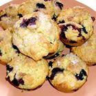 Blueberry oat muffins.  Substitute milk for the orange juice for a more scone-like consistency