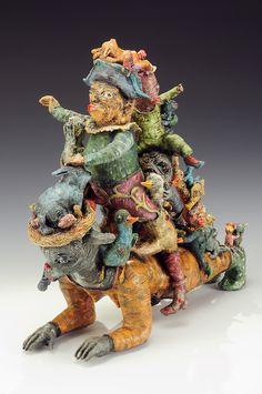 "Janis Mars Wunderlich, ""Family Workout"", ceramic — Sherrie Gallerie"