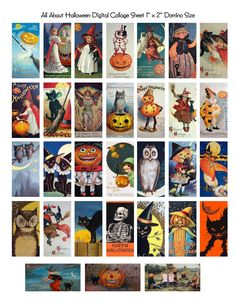 Free Domino Collage Sheets Halloween | http://www.etsy.com/shop/OneBlankDream