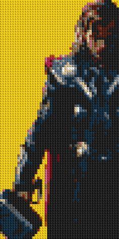 « Je nai pas lintention de mourir aujourdhui. » - Thor (Thor) Cette redoutable mosaique de briques LEGO ® représente tous les favoris