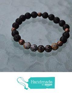 8 mm Black Basalt Lava Stone rock & Blue Ocean Jasper wrist Mala beads healing bracelet - For energy libido Will power Vitality Desire Social Identity, Root chakra - USA Seller from AwakenYourKundalini https://www.amazon.com/dp/B01HCJX46I/ref=hnd_sw_r_pi_dp_Hi-hybHNADMYZ #handmadeatamazon
