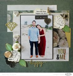 Maya Road and Xyron Blog Swap - Day 3 12 x 12 Scrapbook Layout #mayaroad