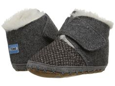 TOMS Kids Cuna (Infant/Toddler) Grey Felt Tweed - Zappos.com Free Shipping BOTH Ways
