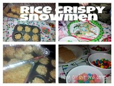 How to make rice krispie snowmen. So cute! Good Christmas gift idea!