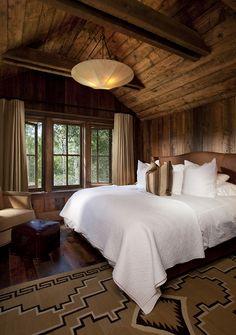 Warm and cozy bedroom.  #rustic #bedroom homechanneltv.com