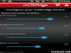 MObridge  Android App - playslack.com , Configure and software update mObridge M2 units with your Android device! Available for both MOST and CAN connected vehicles, this app lets you configure your mObridge Bluetooth audio settings and firmware updates through our website or from your SD card. Additional Features :* Conventional instrument cluster and race gauges for Volkswagen vehicles.* All other vehicle configurations ONLY support software updates and Bluetooth audio parameter…