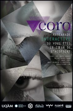 Affiche Coro, mascarade interactive Saint Denis, Rue, Design, Sleepless Nights