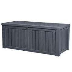 Find Keter 153 x 73 x Rockwood Storage Box at Bunnings Warehouse. Visit your local store for the widest range of outdoor living products. Outdoor Storage Boxes, Patio Storage, Storage Ideas, Contemporary Patio, Modern Patio, Garden Furniture, Outdoor Furniture, Outdoor Decor, Hot Tub Accessories