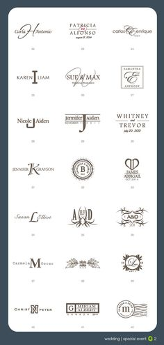 Wedding logos @ sixteenOseven.etsy.com  #Wedding #logo