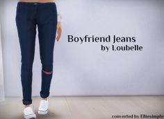 Sims 4 CC's - The Best: TS3 Boyfriend Jeans Conversion by EllieSimple