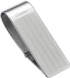 까르때에 패턴_Cartier Chevron Engraved Money Clip - for Men Money Clip Wallet, Money Clips, Engraved Money Clip, Chevrons, Just For Men, Mens Gear, Men's Collection, Luxury Handbags, Cartier