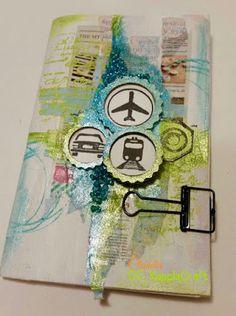 Mixed Media Travel Journal  #yupplacraft
