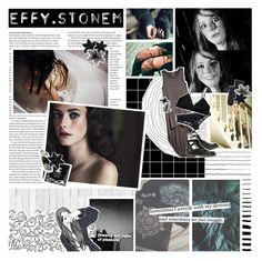 """""""Old habits are hard to let go of - Effy Stonem"""" by rockgirlfriend15 ❤ liked on Polyvore featuring art"""