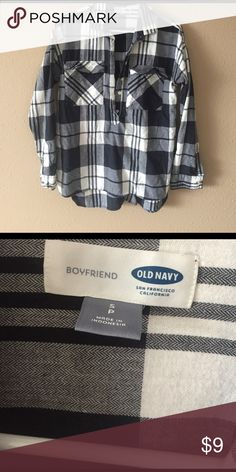 Flannel Cute and cozy Old Navy boyfriend flannel! Old Navy Tops Button Down Shirts
