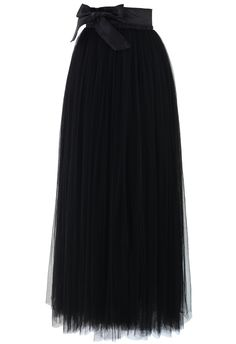 Amore Maxi Tulle Prom Skirt in Black - Skirt - Bottoms - Retro, Indie and Unique Fashion