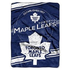 NHL Toronto Maple Leafs Stamp Plush Raschel Blanket 60 x 80 Blue * Continue to the product at the image link.