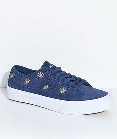 b299372d5d HUF Hupper 2 Plantlife Premium Blue Skate Shoes