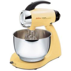 Sunbeam Heritage Series Yellow 4.6 Qt. Mixmaster Stand Mixer, 2568 Find out how you can easily acquire the best kitchen stand mixer for your kitchen at http://www.smallappliancesforkitchen.net