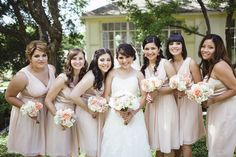 nude pink bridemaids