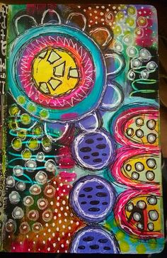 Playtime in my small dylusions art journal xx Art Journal Pages, Art Journaling, Journal 3, Journal Design, Daily Journal, Bullet Journal, Simple Art, Unique Art, Art Journal Inspiration