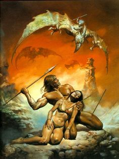 "Boris Vallejo & Julie Bell - Boris Vallejo : ""The Last Stand"" Dark Fantasy Art, Fantasy Artwork, Fantasy Kunst, Boris Vallejo, Julie Bell, Bell Art, Conan The Barbarian, Bd Comics, Sword And Sorcery"