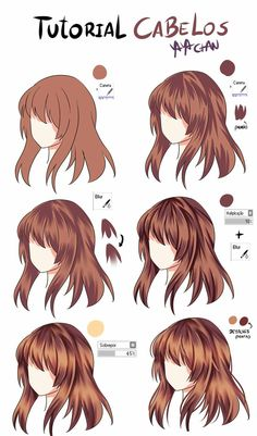 I can't even draw hair to begin with, but okay! #drawinghair