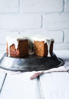 ... banana and butternut squash bundt cake with maple and cardamom glaze ...