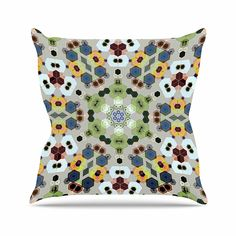 KESS InHouse AC3023AOP03 18 x 18-Inch 'Angelo Cerantola Fruity Fun Green Modern' Outdoor Throw Cushion - Multi-Colour -- Details can be found by clicking on the image. (This is an affiliate link) #GardenFurnitureandAccessories