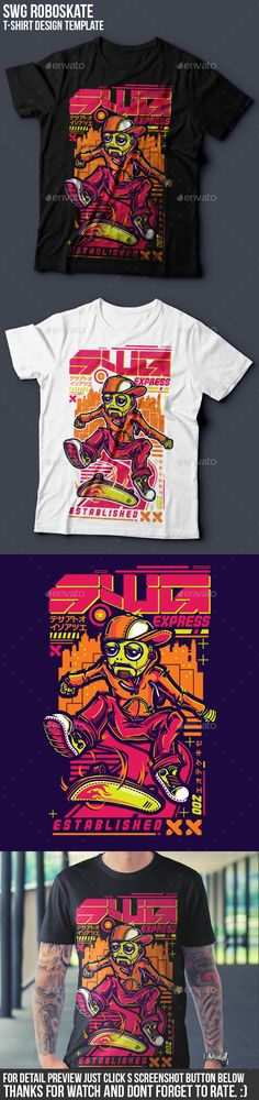 SWG Roboskate #T-Shirt #Design - Funny Designs Download here: https://graphicriver.net/item/swg-roboskate-tshirt-design/17561043?ref=alena994