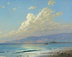 пейзаж, берег Средиземного моря, Георгий Дмитриев
