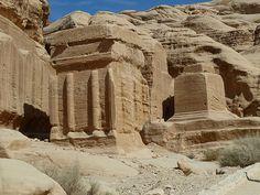 A djinn block in Petra, Jordan.