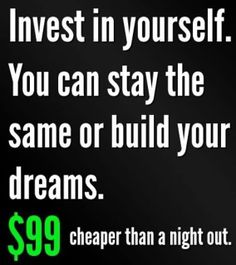 Its not a huge investment and I know many of us spend this on a night out!  #investintoyou wrapmewealthy,com
