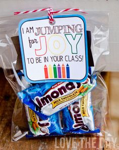 Back To School Teacher Gift Idea & FREE DOWNLOAD by Love The Day: Jumping For Joy!
