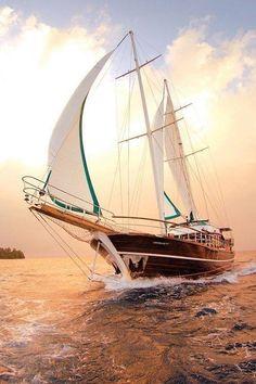 gorgeous light, gorgeous boat