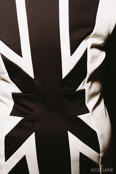 Ask Fashion By Amanda Koker: Season 10, photo 4 of 52 Photographer: Cat Laine of the Painted Foot Details: Closeup of dress with black and white British flag design
