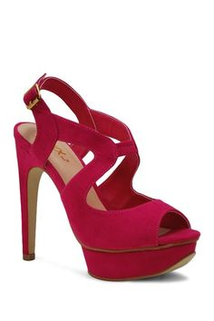 Mika High Heel Sandal on HauteLook - comes in blue, black, and hot pink! $28.00