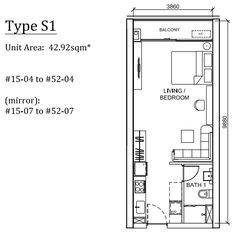 Peak-Cambodia-Residences-Floor-Plan-Studio 43sqm