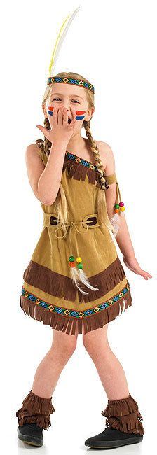 GIRLS RED INDIAN TIGER LILY PETER PAN FANCY DRESS UP COSTUME OUTFIT 4-6-8-10-12 | eBay