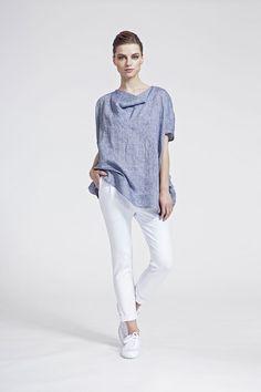 IMRECZEOVA SS16 grey linen oversized top Ss16, White Jeans, Grey, Pants, Tops, Fashion, Ash, Moda, Gray
