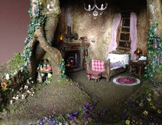 Tree trunk house details by Torisaur, via Flickr