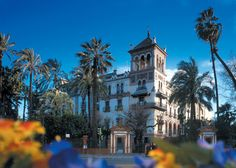 Hotel Alfonso XIII, Seville, Spain  best place to stay close to everything most beautiful hotel was a real castle fyi get food at the local shop for the room ,room service not so great lol