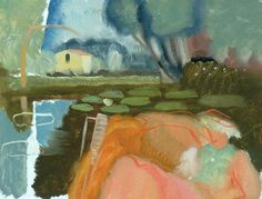 River Scene at Holbrook and Molly in a Boat c. 1938 by Ivon Hitchens (British… Contemporary Landscape, Landscape Art, Landscape Paintings, Seascape Paintings, Mary Cassatt, Pierre Bonnard, Henri Matisse, Camille Pissarro, Claude Monet