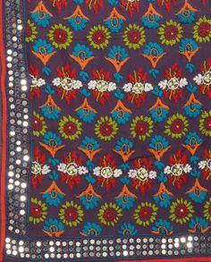 Purple Wrap with Phulkari Embroidery & Sequins