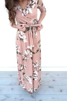 Our luxurious Spring wrap maxi dresses are stunning!  They are perfect for special occasions, but so comfortable that you will want to wear them every day.