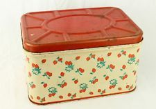 Vintage Woolworth Metal Strawberry Bread Box