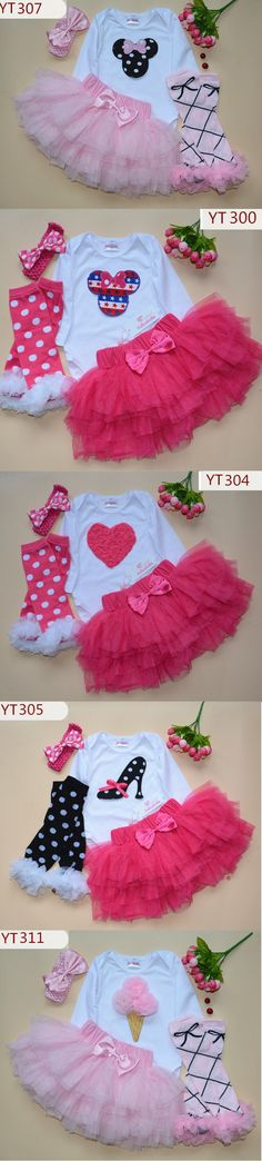 2016 NEW hot selling Baby Girl Tutu outfit Kids and Baby Clothes baby Birthday clothing Gift tutu baby outfits set